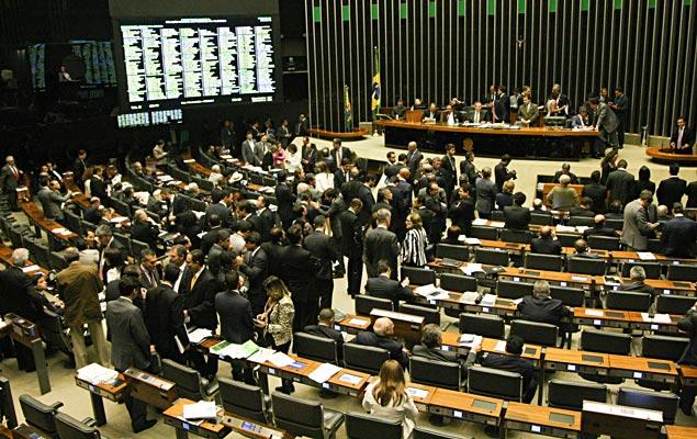BRASÍLIA, DF, 17.03.2015: O presidente do Congresso Nacional, senador Renan Calheiros (PMDB-AL), preside sessão conjunta da Câmara e Senado, de votação do Orçamento Geral da União para 2015