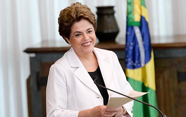 A presidente afastada Dilma Rousseff durante leitura da carta aos senadores e ao povo brasileiro, realizada em um pronunciamento no Palácio da Alvorada