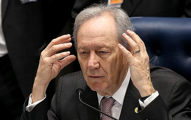 Ricardo Lewandowski durante julgamento do impeachment no Senado