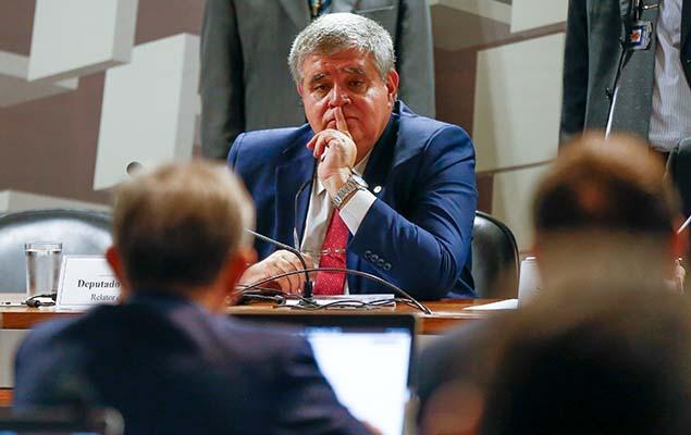 O deputado Carlos Marun (PMDB-MS), defensor do presidente Temer, é escolhido como relator da CPMI da JBS no Congresso, em Brasília