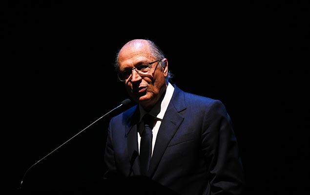 O governador Geraldo Alckmin, que se mostrou favorável a um colégio eleitoral restrito para prévias