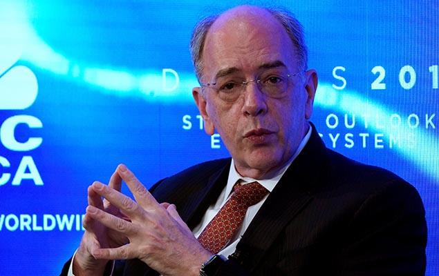 Presidente da Petrobras, Pedro Parente, durante a reunião anual do Fórum Econômico Mundial de Davos, na Suíça, nesta terça