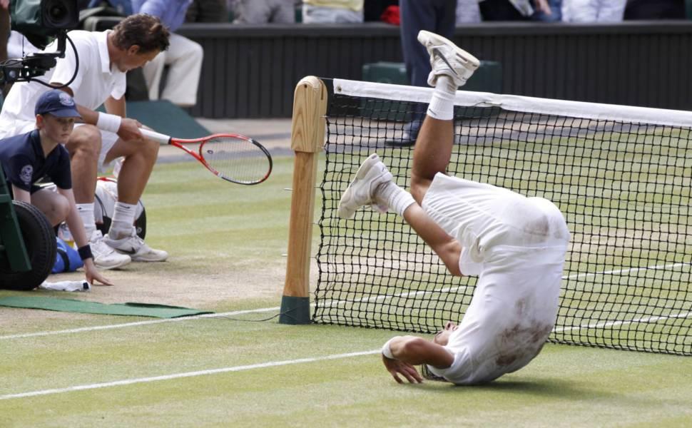 Rafael Nadal na final de Wimbledon