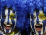 Os torcedores do Uruguai pintaram o amor à sua seleção no rosto