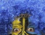 O torcedor do Uruguai caprichou na peruca e nas cores