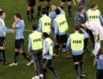 Seleção uruguai após o jogo