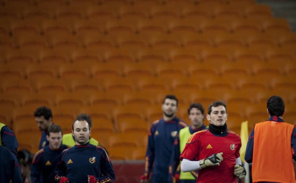 Espanha treina no Soccer City