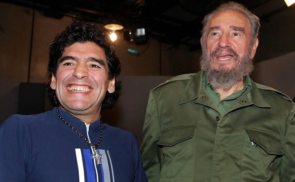 Maradona e líderes mundiais