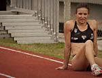 Maurren salta durante inauguração da pista do Centro Olímpico em SP