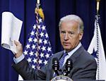 Vice-presidente americano, Joe Biden, faz pronunciamento sobre relatório sobre investimentos em tecnologia, em Washington (EUA)