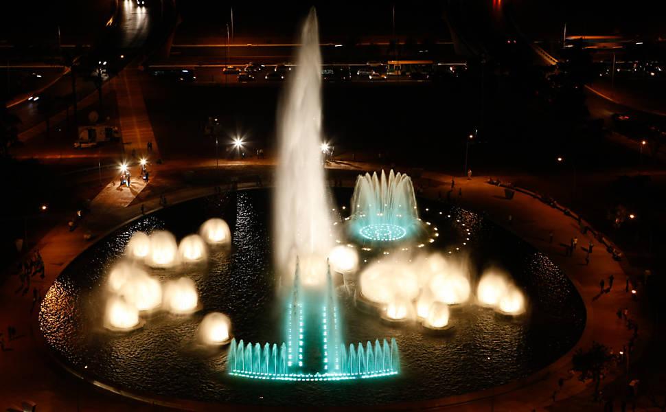 Inauguração da Fonte Luminosa de Brasília