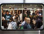 Ele foi ao evento de Metrô ao lado do candidato tucano ao governo, Geraldo Alckmin