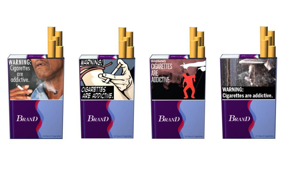 EUA propõe novos anúncios com advertências em maços de cigarro