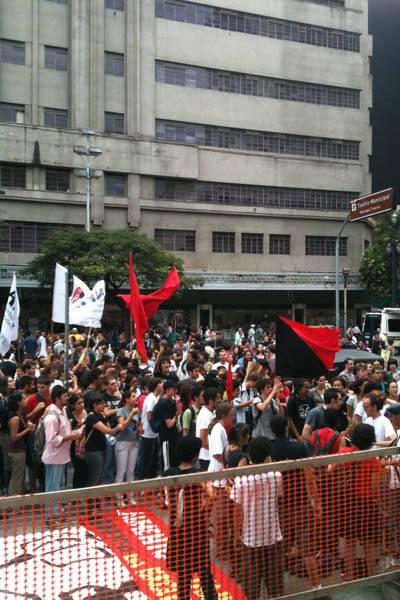 Protesto contra aumento da tarifa do ônibus