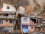 Vista geral de área afetada por deslizamentos de terra em favela de Nova Friburgo, Rio de Janeiro Leia Mais