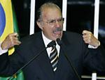 O senador José Sarney (PMDB-AP) após ser eleito presidente do Senado em 2009