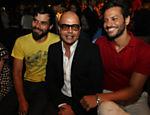 Facundo Guerra, Cacá Ribeiro e Serginho Amorim acompanham o desfile da grife Do Estilista na edição de inverno 2011 da SPFW <a href=