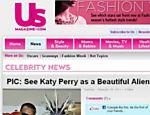 Site publica foto de Katy Perry vestida de ET para clipe <a href=