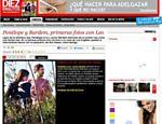Penélope Cruz e Javier Bardem são flagrados com bebê por site <a href=