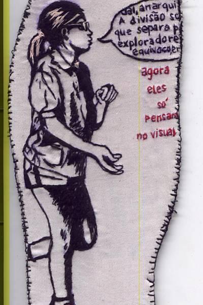Palmilha de tênis customizada pela artista Silvana Mello
