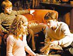 Ron (Rupert Grint), Hermione (Emma Watson) e Harry (Daniel Radcliffe) em