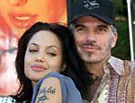 Billy Bob Thornton com sua então esposa Angelina Jolie chegam a evento em Los Angeles (EUA)