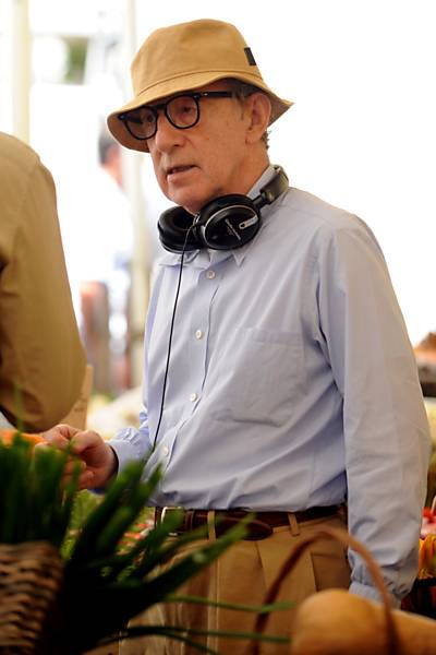 Woody Allen on the set of the film