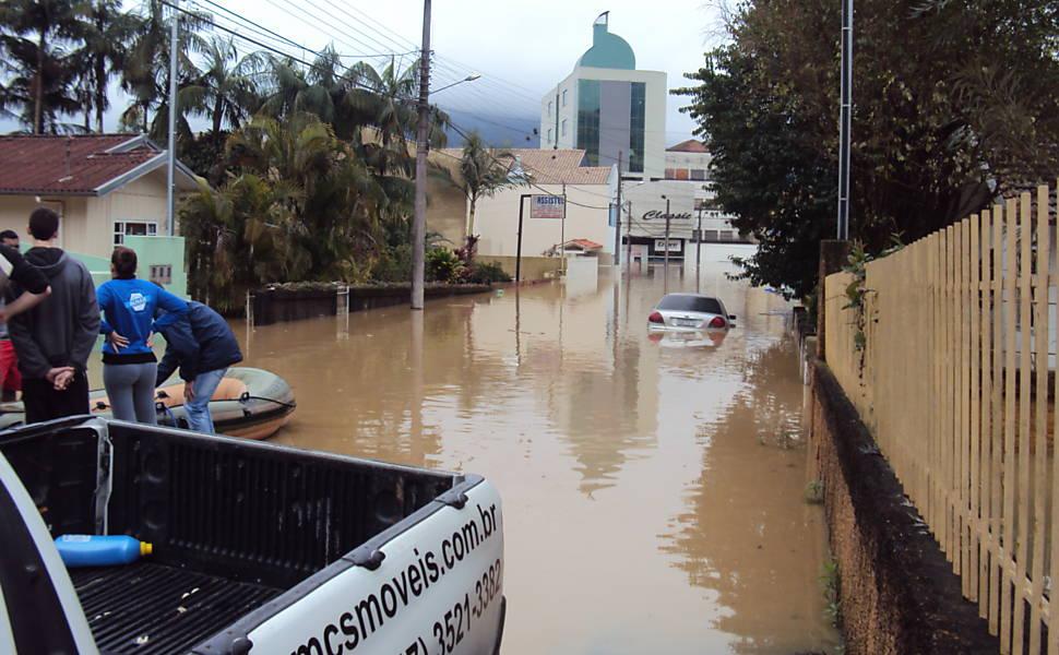 Enchentes em Santa Catarina