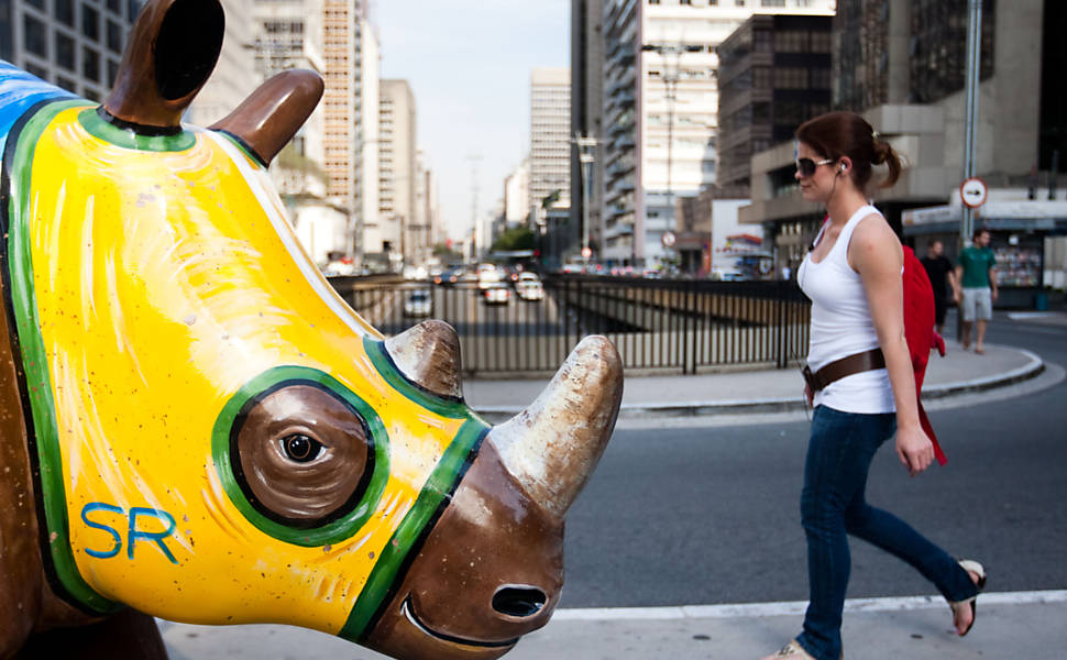 Rinocerontes invadem São Paulo