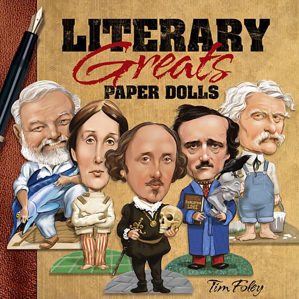 Grandes nomes da literatura em bonecos de papel