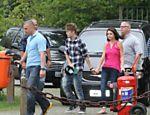 Justin Bieber e Selena Gomez no heliporto da Lagoa, no Rio de Janeiro <a href=