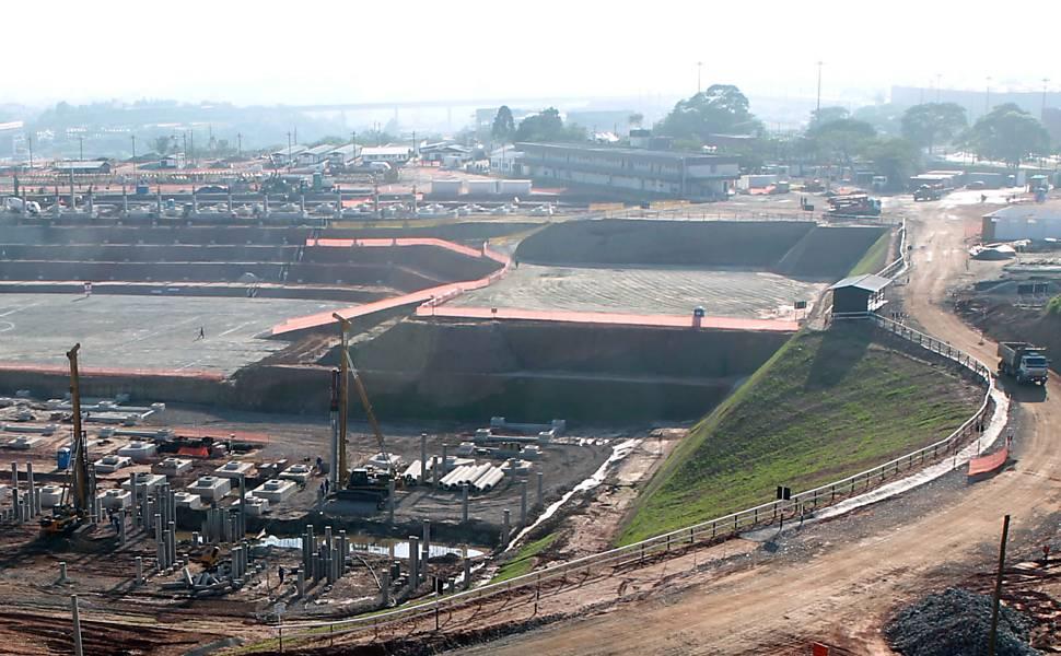 Obras do Itaquerão - outubro