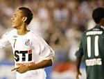 Neymar comemora gol do Santos sobre o Palmeiras na semifinal do Paulista de 2009
