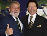 Lula recebe Silvio Santosno Palácio do Planalto, em Brasília (DF). O apresentador convidou Lula para participar da abertura do programa Teleton, que aconteceu nos dias 5 e 6 de novembro de 2010 <a href=