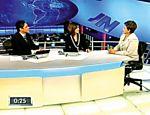 Dilma Rousseff é entrevistada pelos jornalistas William Bonner e Fátima Bernardes no