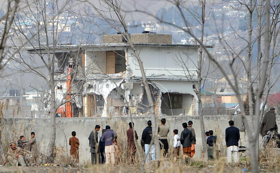 Demolição da casa em que Bin Laden foi morto