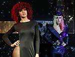 Bonecas de cera das cantoras Rihanna (à esquerda) e Lady Gaga no Museu Madame Tussauds, em Londres (Inglaterra)