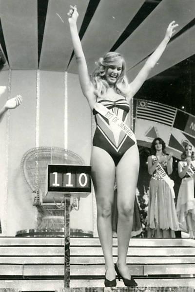 Imagens de competições de miss no Brasil através das décadas