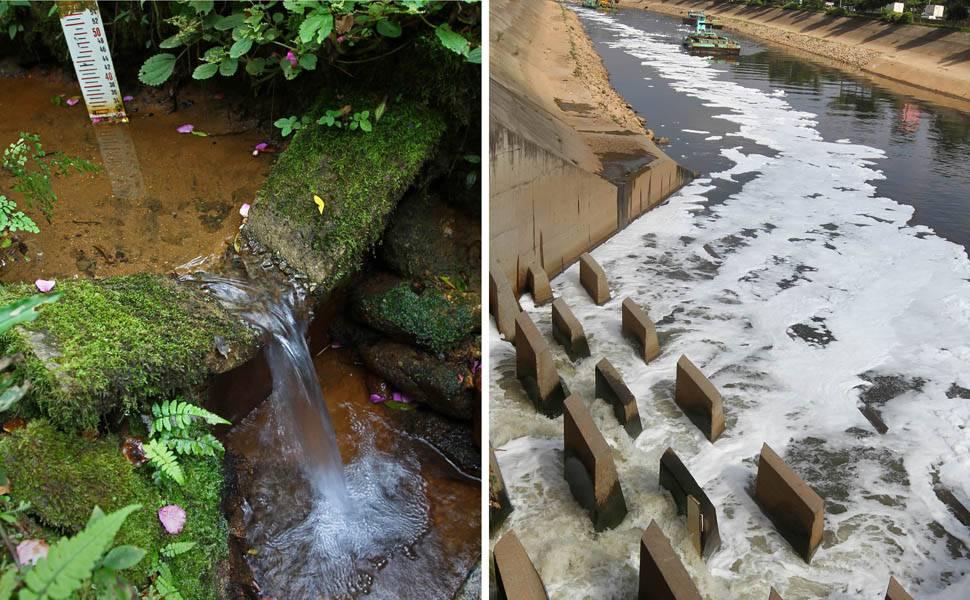 Rio Tietê limpo x rio Tietê sujo