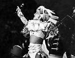 Xuxa aos 29 anos, no lançamento de seu sétimo disco infantil, no Ibirabuera, em 1992