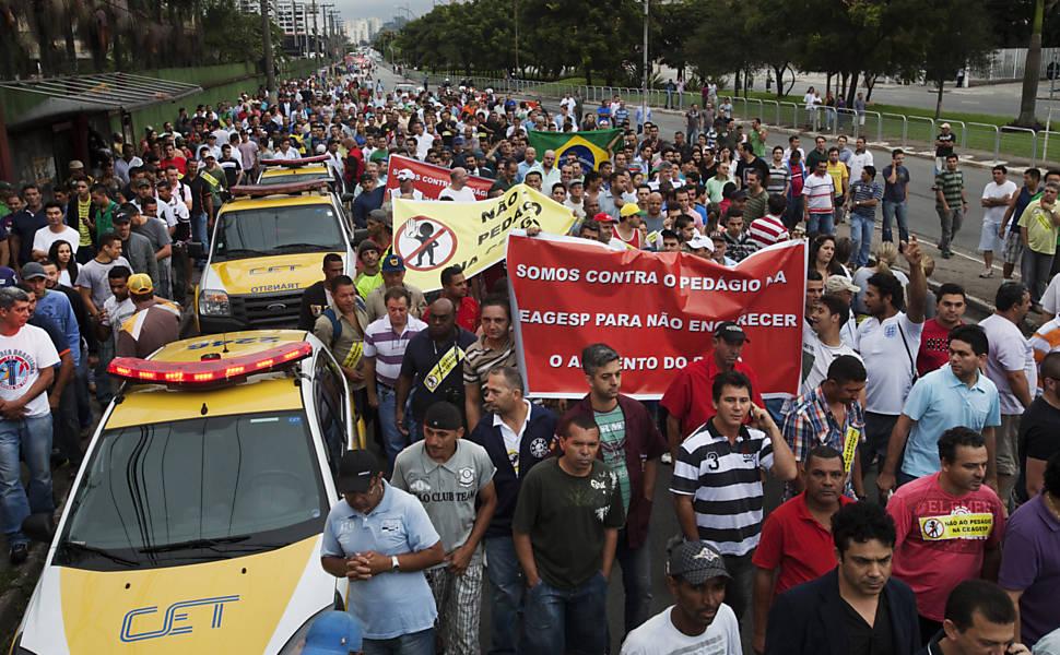 Protesto na Ceagesp