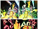 Rihanna nos ombros de seu segurança, em foto que gerou controvérsia por causa do pó branco na cabeça dele <a href=