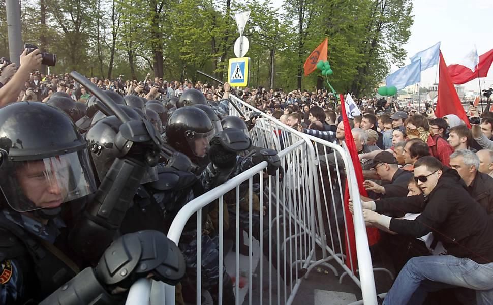 Protesto em Moscou
