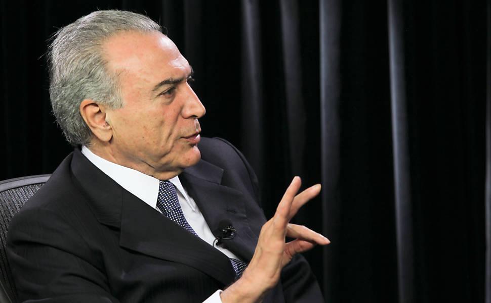 Michel Temer em entrevista ao Poder e Política