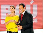 Patrícia Abravanel grava merchandising com Luiz Ricardo para o