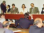 Luiza Brunet durante depoimento na Comissão Especial de Turismo, na Câmara dos Deputados