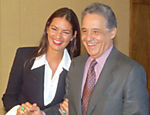 Com o então presidente Fernando Henrique Cardoso na posse do ministro da Indústria e Comércio Francisco Dornelles em 1996