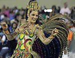 Como madrinha de bateria da Imperatriz no Carnaval do Rio deste ano; segundo ela, seu último desfile