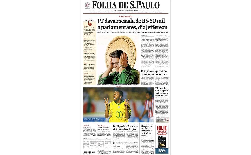 Principais reportagens da Folha sobre o mensalão