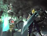 Cloud Strife, protagonista do jogo, olha para um reator de energia que utiliza o Lifestream (fluxo de vida do planeta) como matéria-prima
